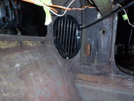 1963 Chevrolet Corvette Fresh Air Vents, Heater Box, and Parking Brake.