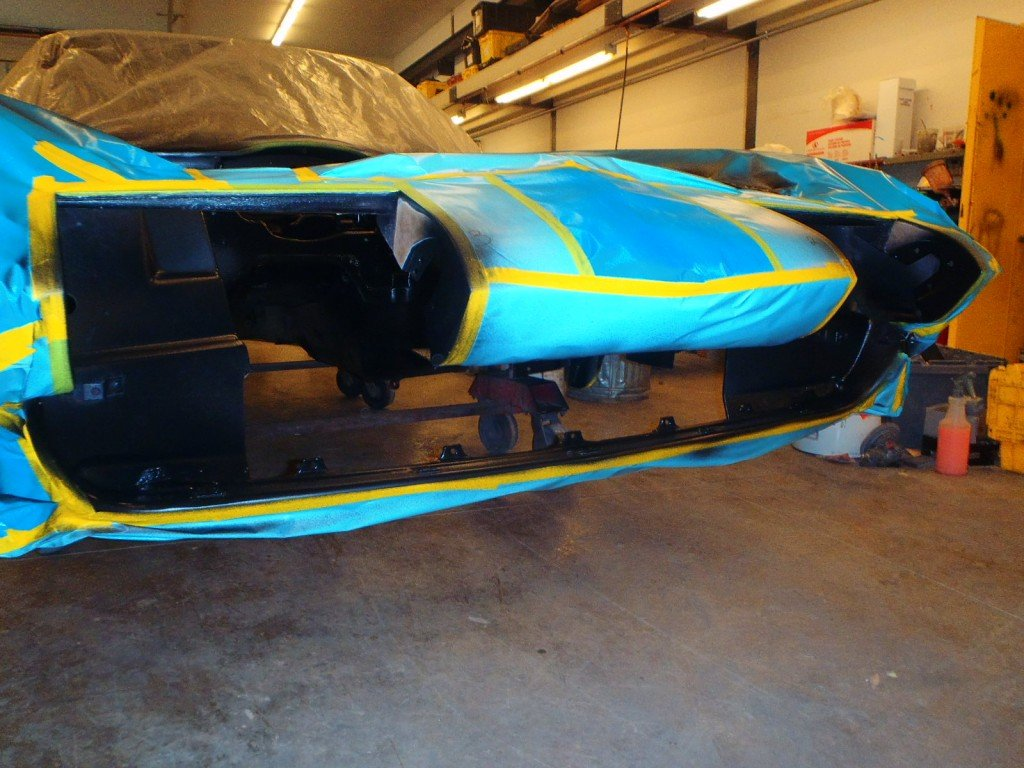1963 Corvette Engine Blackout, Alignment Shims, Z-bar, and Interior Paint