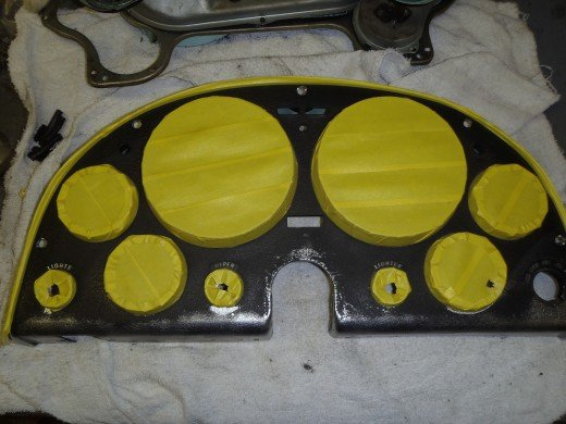 1963 Corvette Gauge Cluster Housing Masking