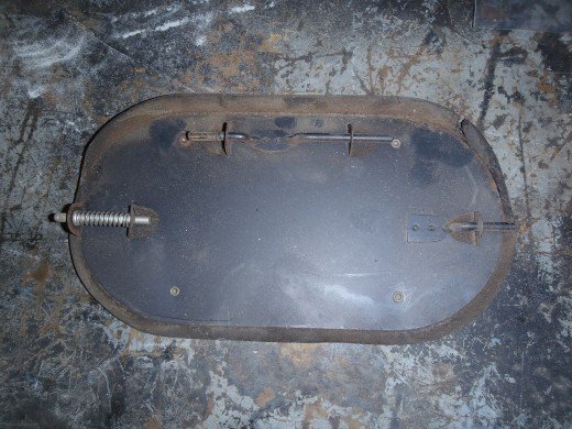 1963 Corvette Fresh Air Vent Door Unrestored