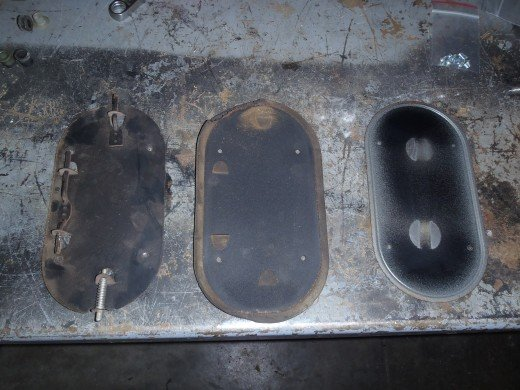 1963 Corvette Fresh Air Vent Door Disassembled