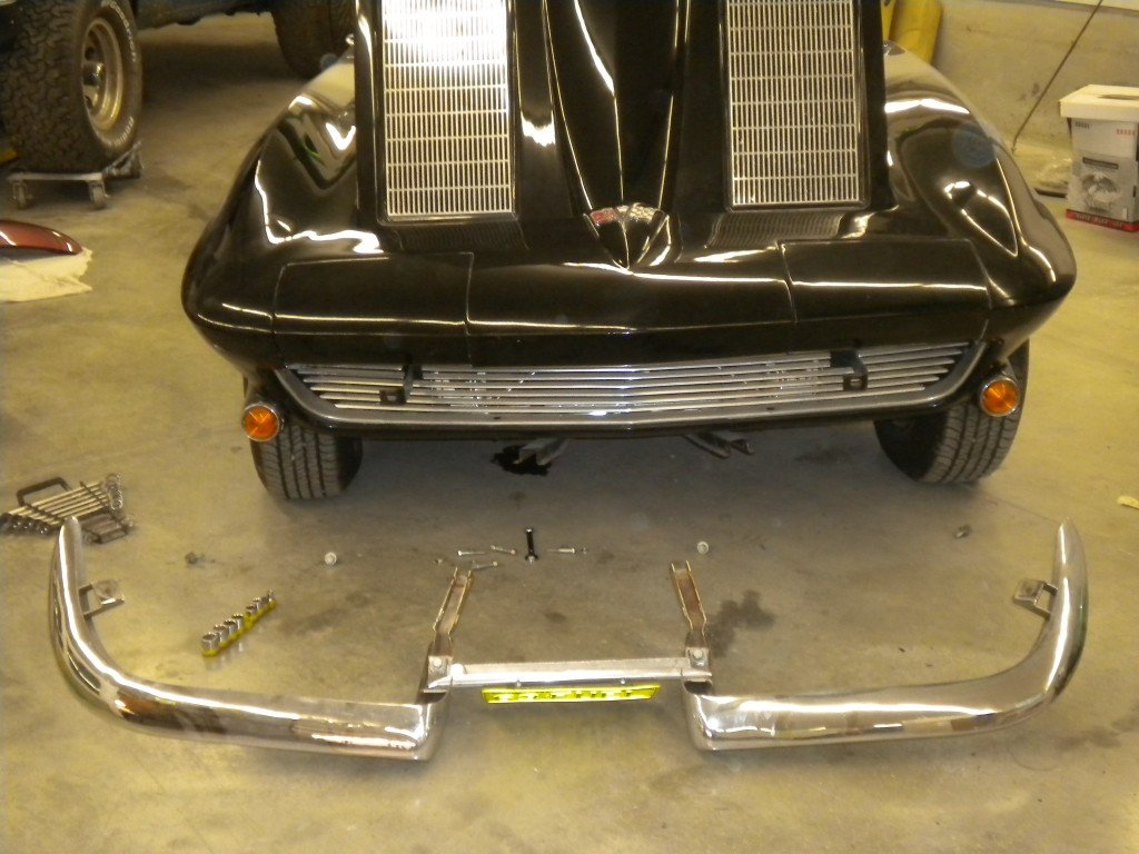1963 Corvette Chrome Removal