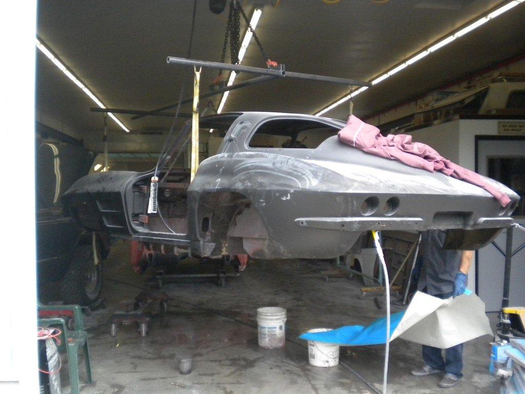 1963 Corvette Cleaning The Underside